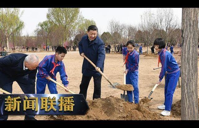 《新闻联播》 习近平在参加首都义务植树活动时强调 发扬中华民族爱树植树护树好传统 推动国土绿化不断取得实实在在的成效 20190408   CCTV / CCTV中国中央电视台