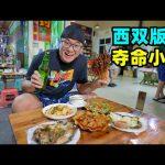 云南西双版纳傣味烧烤,夺命小串香辣,炒苦果,阿星吃油呛臭牛皮Dai-flavor street food in Xishuangbanna,China / 阿星探店Chinese Food Tour