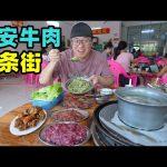会跳舞的牛肉,海南定安牛肉加工一条街,煎烤涮炸,阿星吃菜包饭Street food dancing beef in Ding'an / 阿星探店Chinese Food Tour